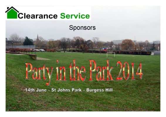 Party in the Park Burgess Hill 2014